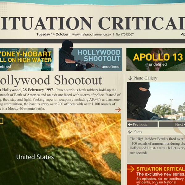 National Geographic Channel : Situation Critical
